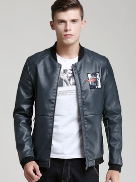 Ericdress Zip Vogue Slim PU Men's Jacket