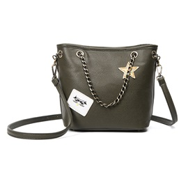 Ericdress Simple Badge Bucket Shoulder Bag