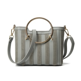 Ericdress Simple Stripe Patchwork PU Handbag