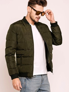Ericdress Thicken Warm Zip Stand Collar Vogue Men's Jacket