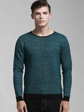 Ericdress Solid Color Warm Pullover Men's Sweater
