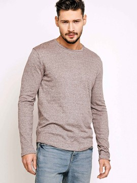 Ericdress Plain Round Neck Pullover Men's T-Shirt