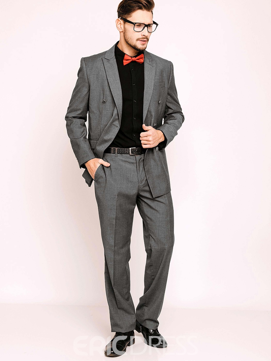 Notched Lapel Double-breasted Mens Suits