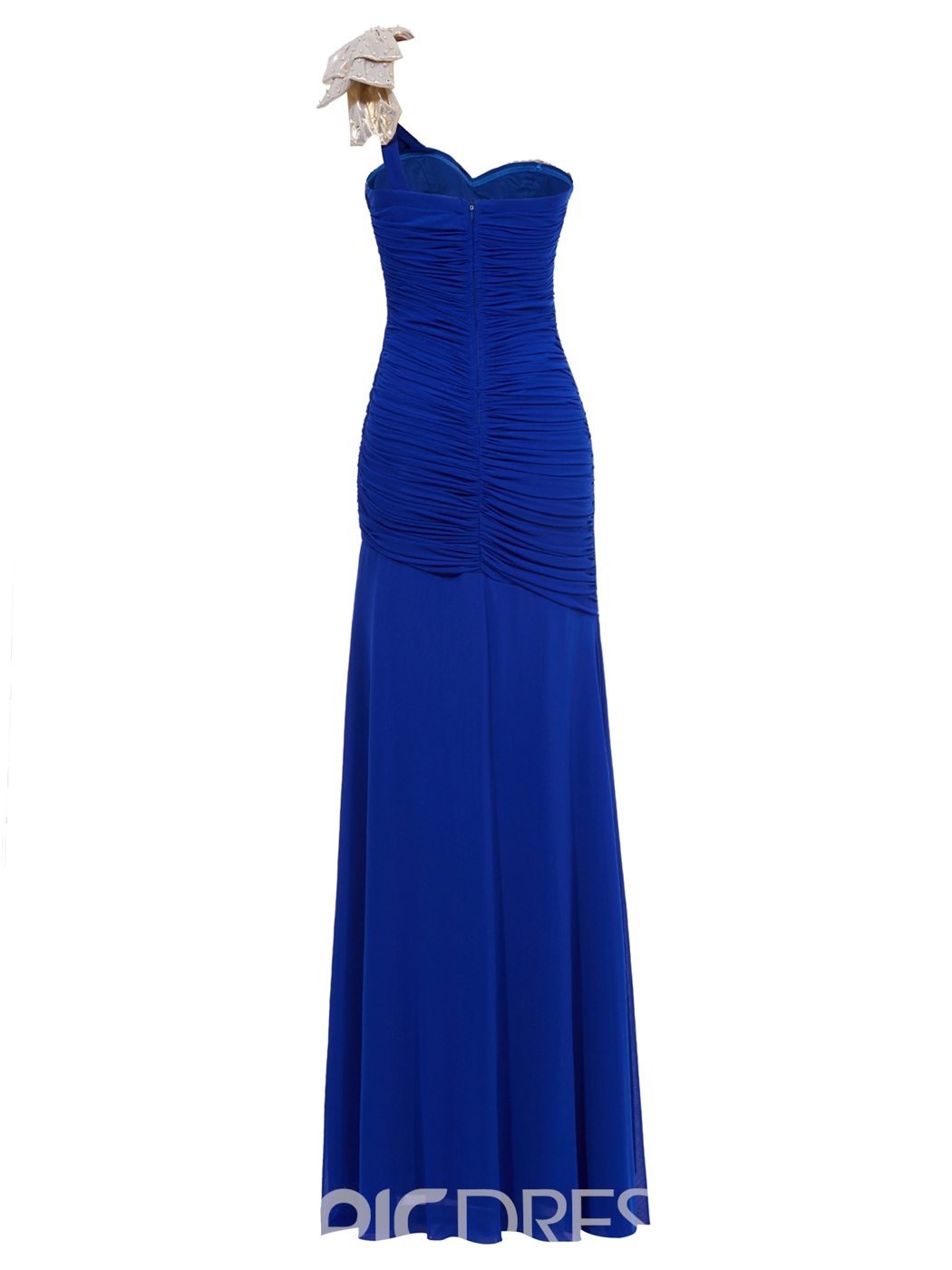 Ericdress Beading Pleated Chiffon Sheath/Column Evening Dress