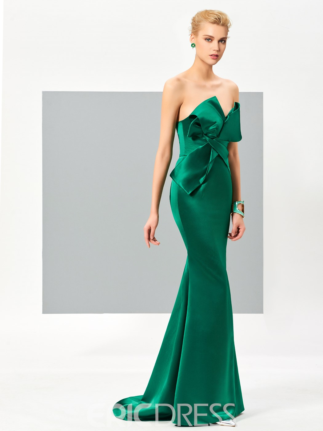 Ericdress Elegant Mermaid Zipper-Up Floor Length Evening Dress