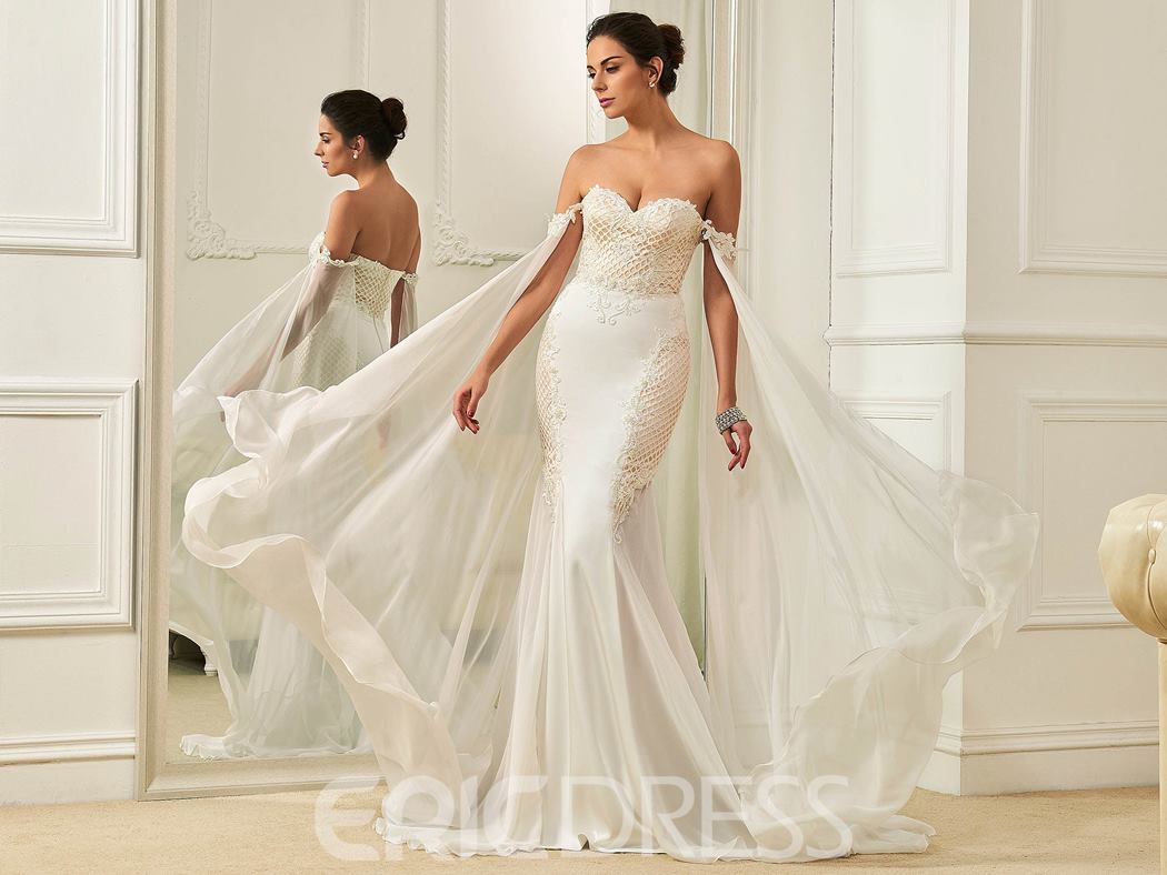 Ericdress Fancy Sweetheart Beaded Lace Mermaid Wedding Dress