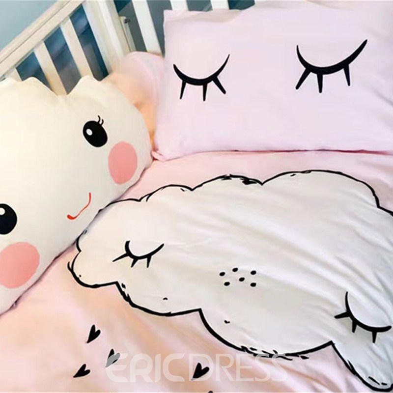 Vivilinen Cute Cartoon Clouds Pattern Cotton 4-Piece Duvet Cover Sets