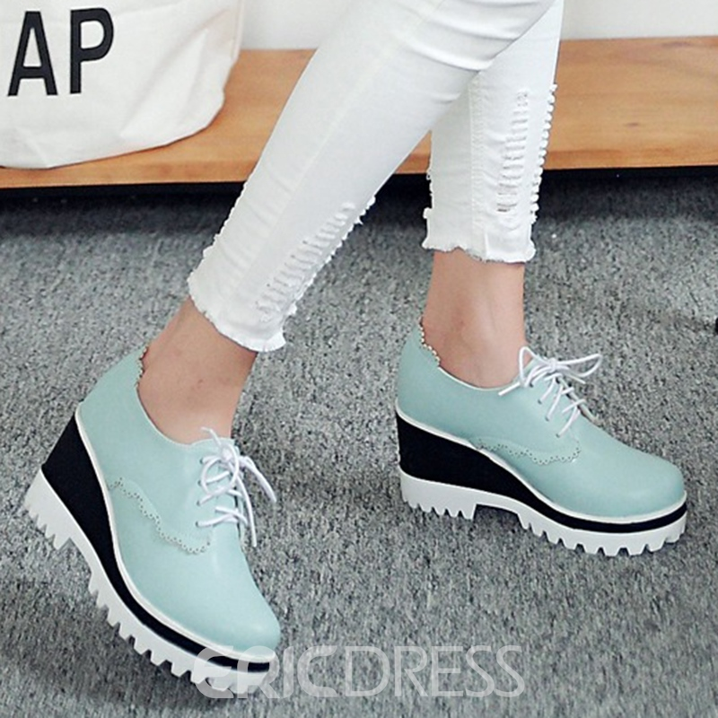 Ericdress Lovely Platform Lace up Sneakers