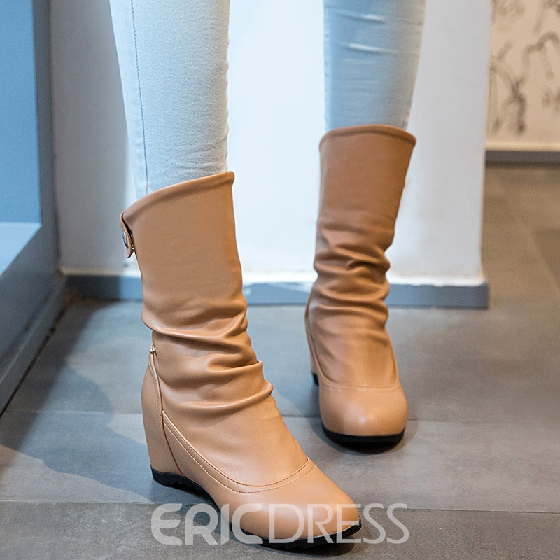 Ericdress Chic Elevator Heel Ankle Boots