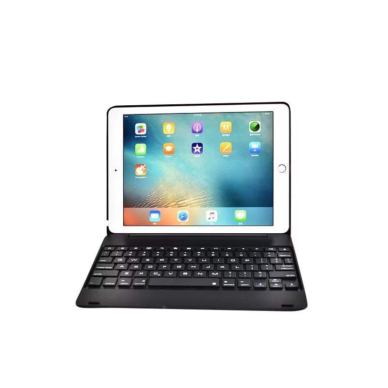 Ericdress For Apple iPad 6 iPad Air 2 9.7 inch ABS Plastic Alloy Metel Ultrathin Keyboard Dock Cover Case