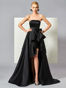 Ericdress Stylish A Line High Low Asymmetry Evening Dress