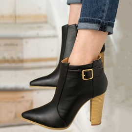 Ericdress Noble Point Toe Chunky Heel Boots