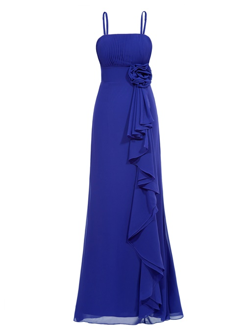 Ericdress A Line Strapless Ruffles Chiffon Prom Dress In Ankle Length