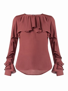 Ericdress Falbala Pleated Stylish Blouse