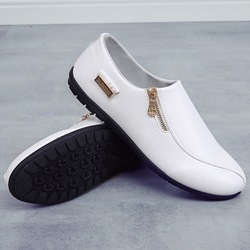Ericdress PU Zipper Decorated Slip on Mens Loafers