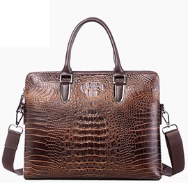 Ericdress Croco-Embossed Business Men's Bag