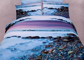 Charming Pebbles in the Mist Print 3D Bedding Sets/Duvet Covers