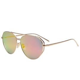Ericdress Metal Frame Color Film Reflective Sunglasses