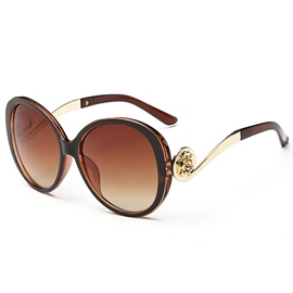 Ericdress Stylish Golden Frame Anti UV Sunglasses for Women