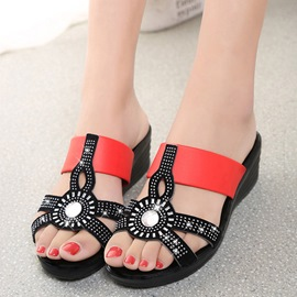 Ericdress Ethnic Rhinestone Mules Shoes