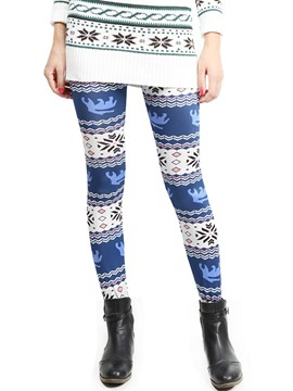Ericdress Cartoon Print Patchwork Leggings Pants