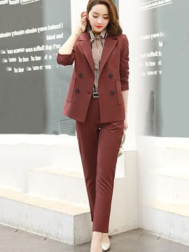 Ericdress Notched Lapel Double-Breasted Formal Suit