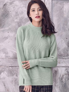 Ericdress Loose Solid Color Knitwear
