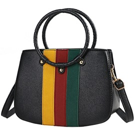Ericdress Color Block Stripe Shell Handbag