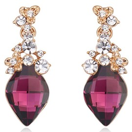 Ericdress Geometric Crystal Inlaid Charming Earrings
