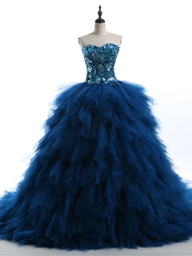 ericdress sweetheart volants paillettes robe de bal robe quinceanera