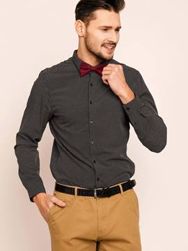 Lapel Single-Breasted Polka Dots Men's Shirt