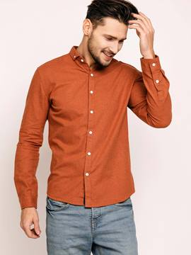 Ericdress Plain Long Sleeve Casual Slim Men's Shirt