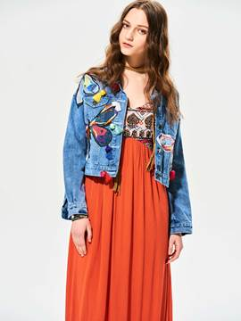 Ericdress Bohoartist Lapel Patchwork Jacket