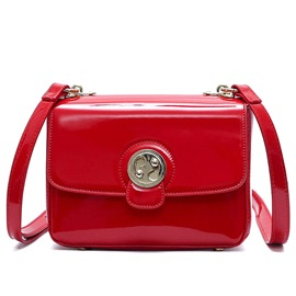 Ericdress Pure Color Patent Leather Crossbody Bag