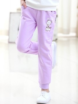 Ericdress Cartoon Spring Long Sports Girls Pants