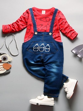 Ericdress T-Shirt Cowboy Suspenders Baby Boys Outfit