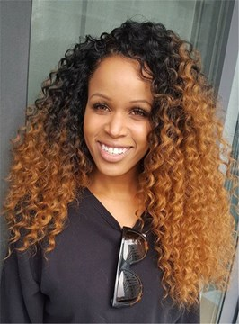Ericdress Top Quality Medium Curly Lace Front Synthetic Hair Wig 22 Inches