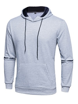 Ericdress Patchwork Long Sleeve Plain Pullover Men's Hoodie