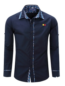 Ericdress Print Long Sleeve Casual Men's Shirt