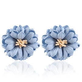 Ericdress Blue Little Daisy Stud Earrings