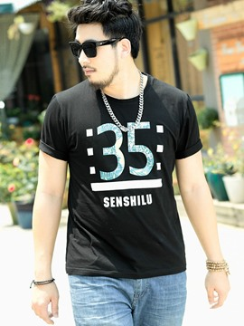 Ericdress Short Sleeve Plus Size Casual Men's T-Shirt