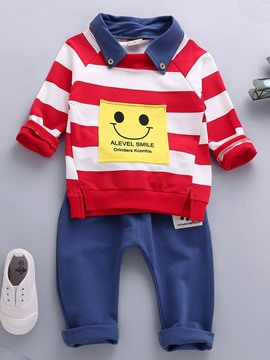 Ericdress Stripe Long Sleeve T-Shirt Pants Casual Boys Outfit