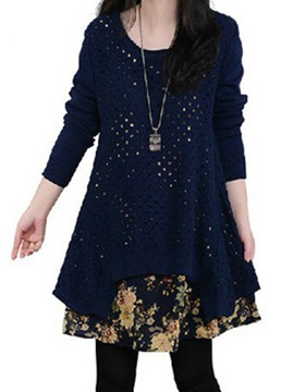Ericdress Admirable Two-Piece Long Sleeve Knit Casual Dress