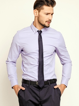 Ericdress Formal Long Sleeve Plain Men's Shirt