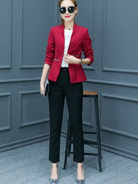 Ericdress Wrapped Lapel Long Sleeve Foraml Suit