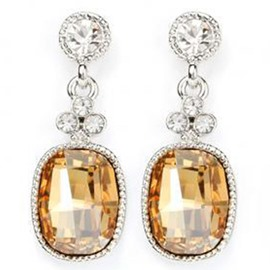 Ericdress Vogue Alloy Plated Geometric Crystal Earrings