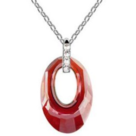 Ericdress Charmed Oval Crystal Pendant Necklace