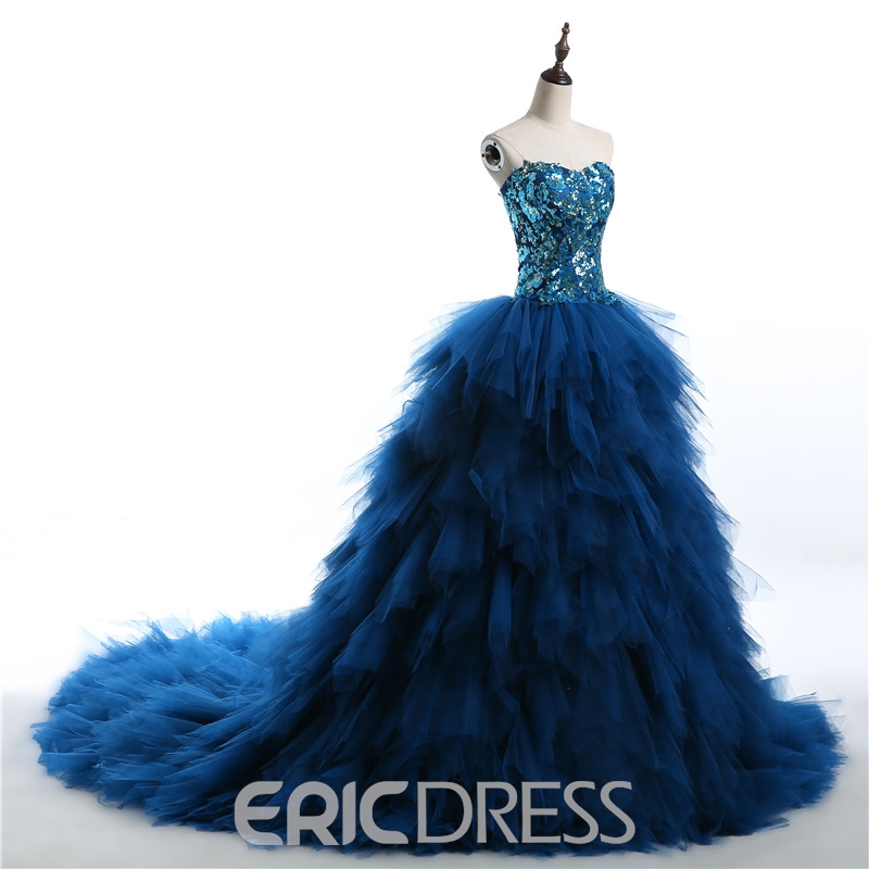 Ericdress Sweetheart Ruffles Sequins Ball Gown Quinceanera Dress