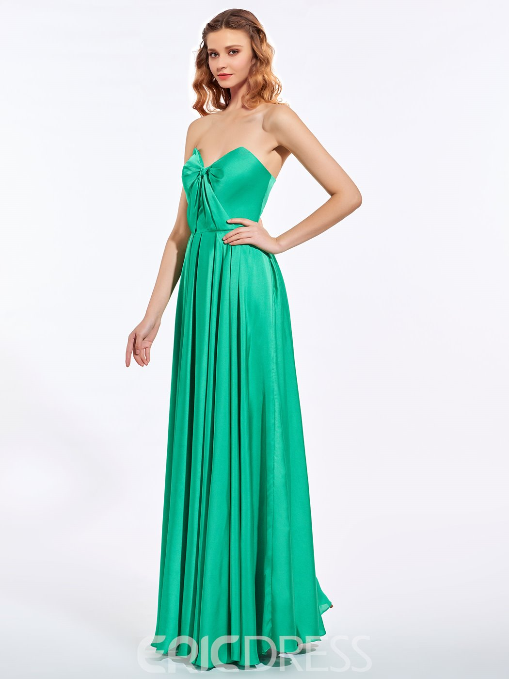 Ericdresss A-Line Sweetheart Draped Floor-Length Prom Dress