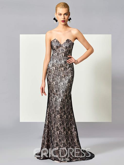 Ericdress Mermaid Lace Evening Dress with Shawl